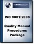 ISO 9001:2008 Quality Manual and Procedures Package